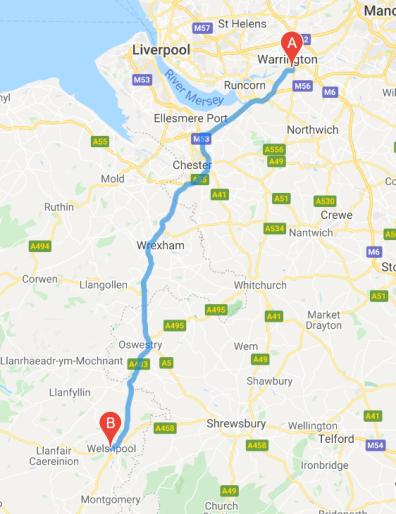Welshpool - Travel Map
